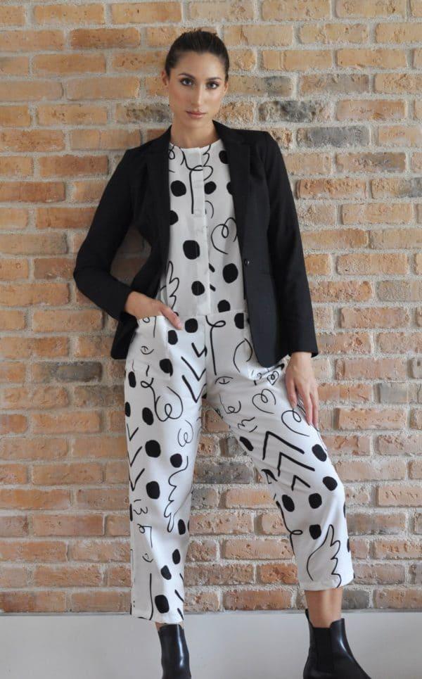 macacão Amy preto e branco_