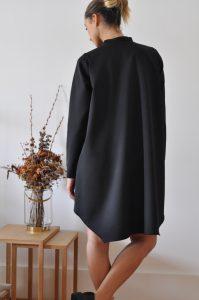 vestido Elis preto curto costas